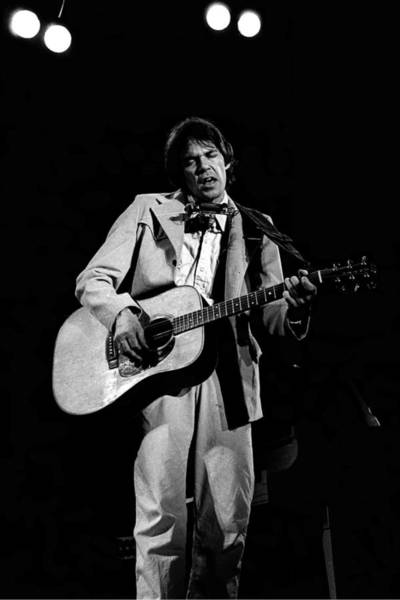 Neil Young Photograph - Neil Young Live by Larry Hulst