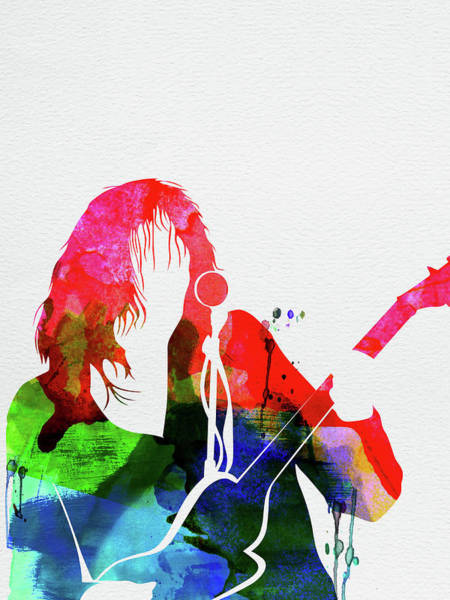 Wall Art - Mixed Media - Neil Young Watercolor by Naxart Studio