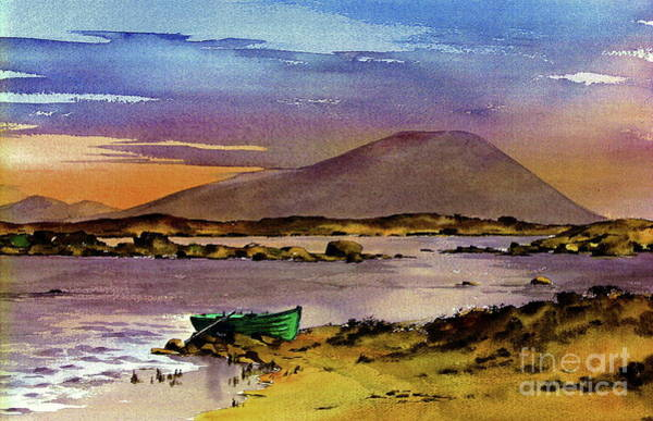 Painting - Neiphin Sunset, Mayo. by Val Byrne