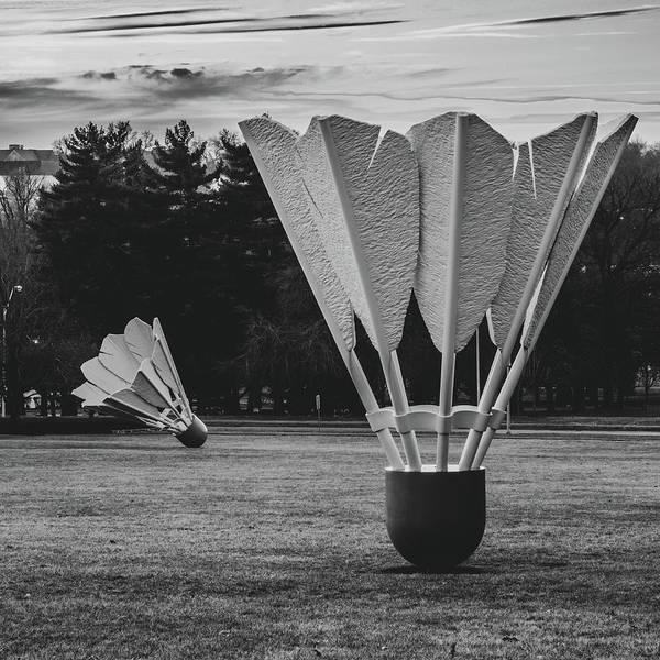 Photograph - Nelson Atkins Shuttlecocks - Kansas City Monochrome 1x1 by Gregory Ballos