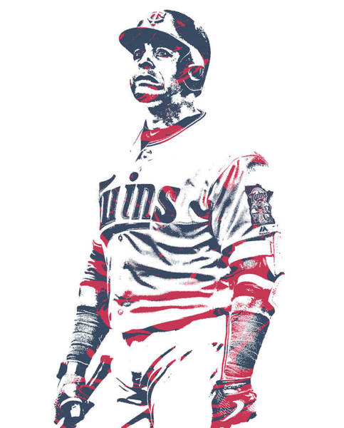 Wall Art - Mixed Media - Nelson Cruz Minnesota Twins Pixel Art 10 by Joe Hamilton