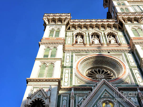 Photograph - Neo-gothic Facade At The Florence Cathedral by John Rizzuto