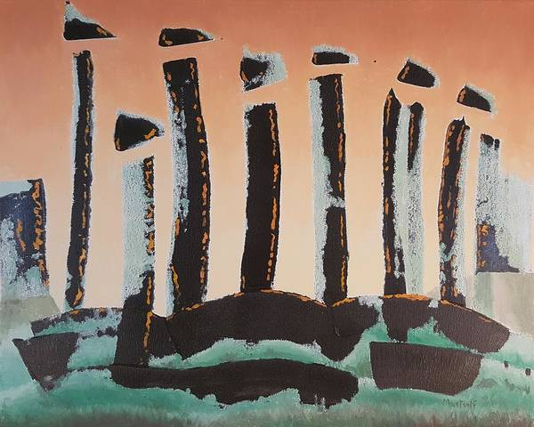 Painting - Neolithic Sunrise by Dave Martsolf