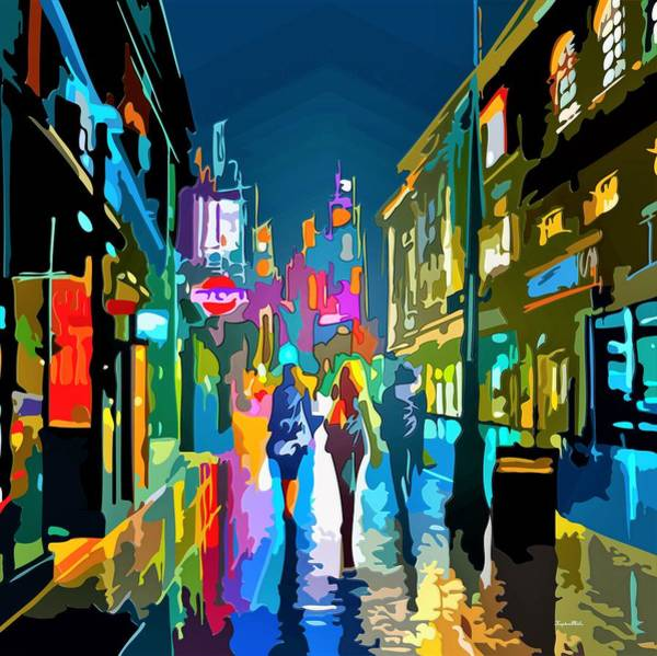 Shopping Districts Wall Art - Painting - Neon by ArtMarketJapan