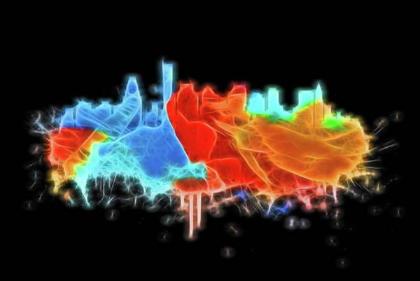 Wall Art - Digital Art - Neon Boston Skyline by Dan Sproul