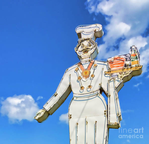 Wall Art - Photograph - Neon Chef by Lenore Locken