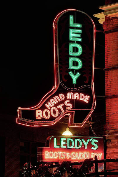 Wall Art - Photograph - Neon Cowboy Boot by JC Findley