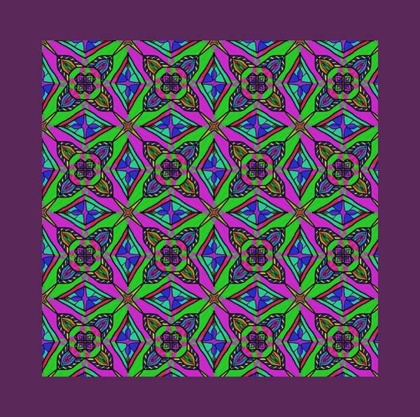 Digital Art - Neon Diamond Pattern by Becky Herrera