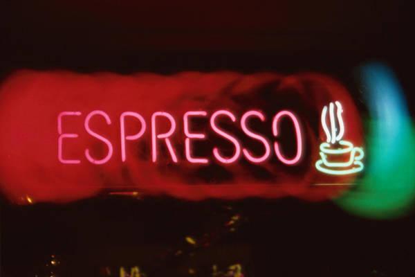Wall Art - Photograph - Neon Espresso Sign by Gary Gross