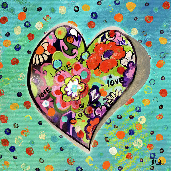 Neon Pink Painting - Neon Hearts Of Love IIi by Patricia Pinto