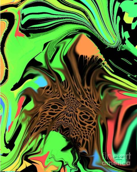 Digital Art - Neon Jungle by Rob Mandell