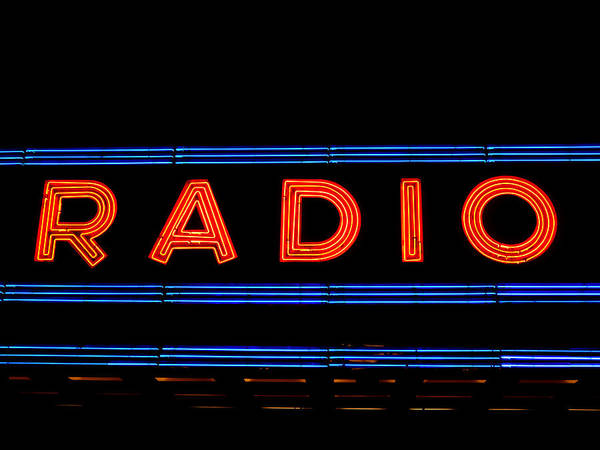 Halon Wall Art - Photograph - Neon Radio by Richard Reeve
