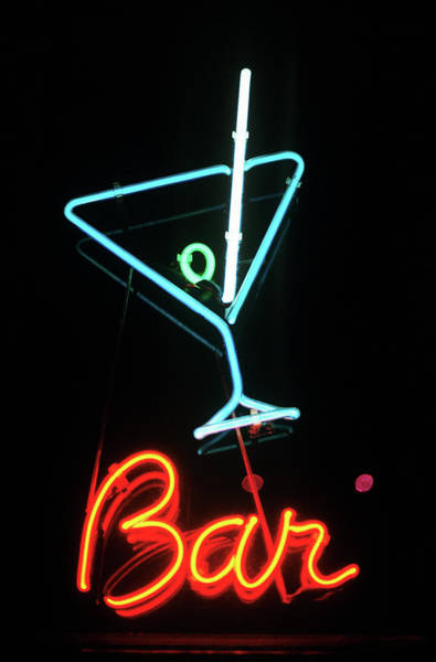 Photograph - Neon Sign For A Bar by Image Source