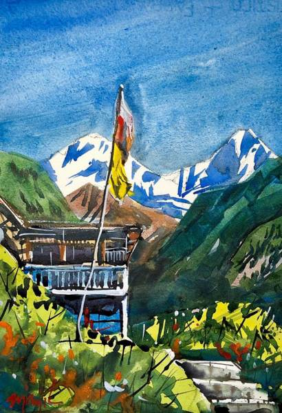 Wall Art - Painting - Nepal 3 by Ugljesa Janjic