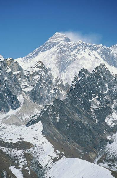 Wall Art - Photograph - Nepal, Himalayas, View Of Mt Everest by Alan Kearney