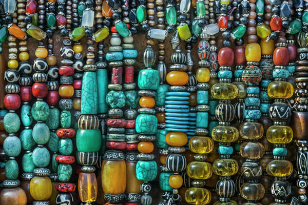 Retail Photograph - Nepalese Gem Stone Jewellery At A by Glen Allison
