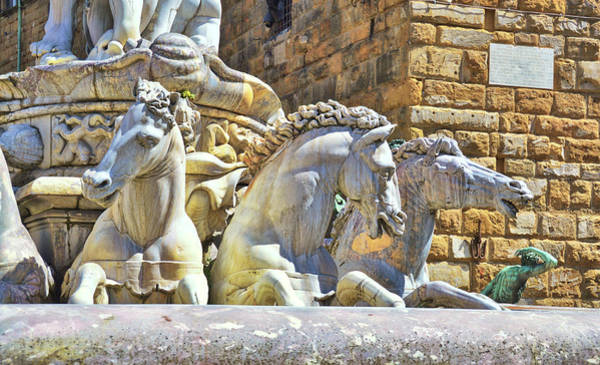 Photograph - Neptune's Firenze Fountain  by JAMART Photography