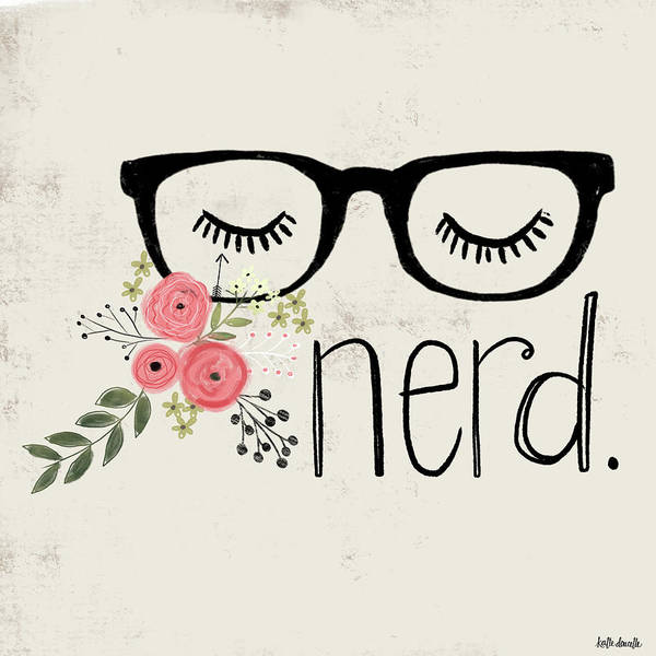 Wall Art - Mixed Media - Nerd by Katie Doucette