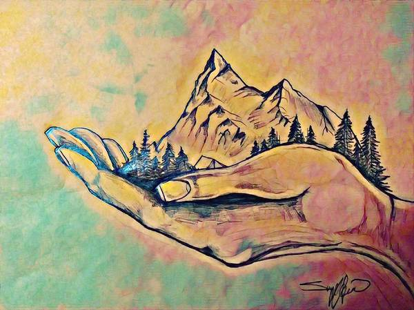Wall Art - Mixed Media - Nestled by Sunny Hargrave
