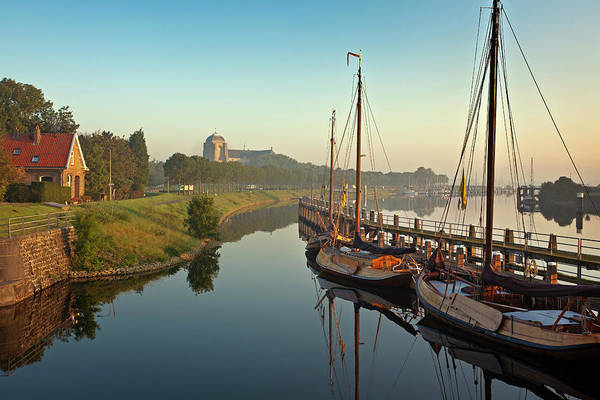 Photograph - Netherlands, Veere, Harbour by Frans Lemmens
