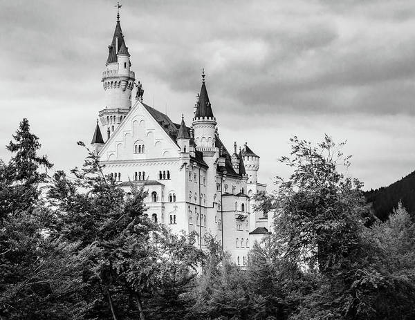 Photograph - Neuschwanstein Castle In Black And White by Borja Robles