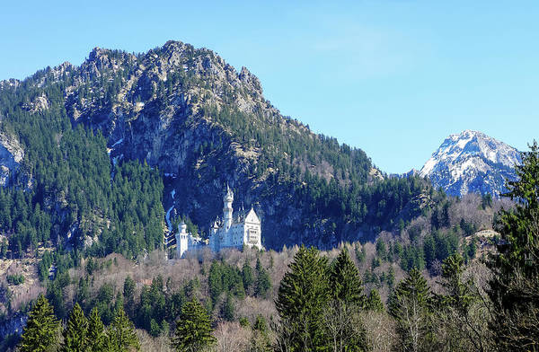 Photograph -  Neuschwanstein Castle On The Hill 1 by Dawn Richards
