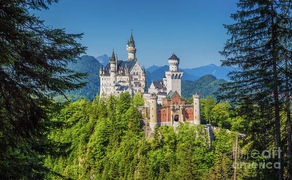 Wall Art - Photograph - Neuschwanstein Fairytale Castle #2 Retouched by JR Photography