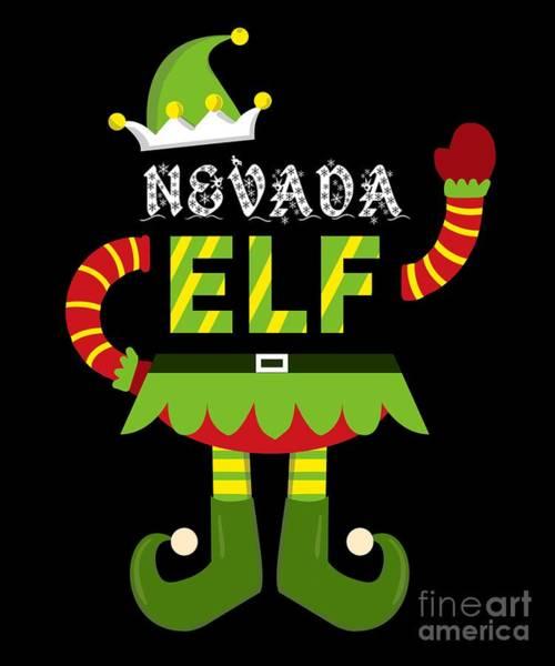 Ugly Digital Art - Nevada Elf Xmas Elf Santa Helper Christmas by TeeQueen2603
