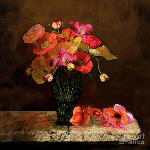 Wild Poppies Digital Art - Never Enough Poppies by J Marielle