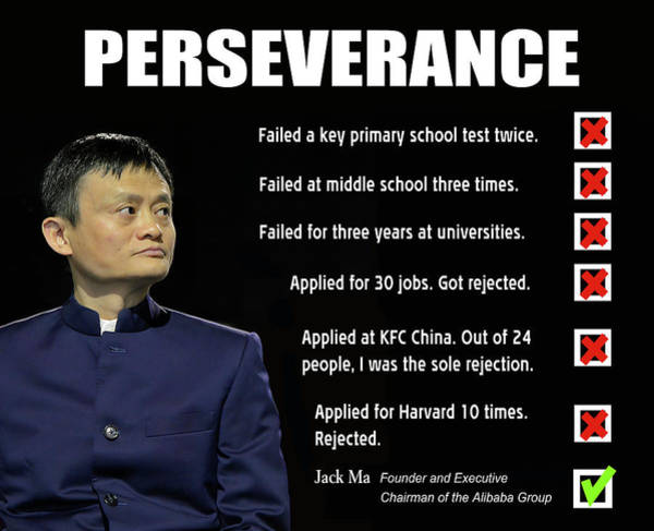 Wall Art - Digital Art - Never Give Up - Jack Ma, Founder Of Alibaba Group by Daniel Hagerman