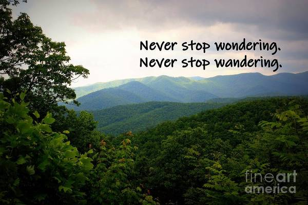 Photograph - Never Stop Wandering by Patti Whitten