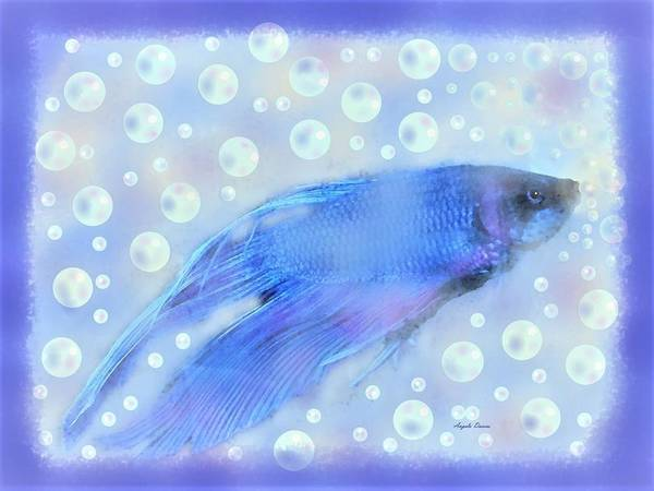 Digital Art - Never Too Old For Bubbles by Angela Davies