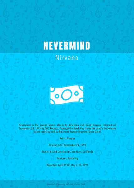 Wall Art - Mixed Media - Nevermind Nirvana Greatest Albums Of All Time Minimalist Series by Design Turnpike