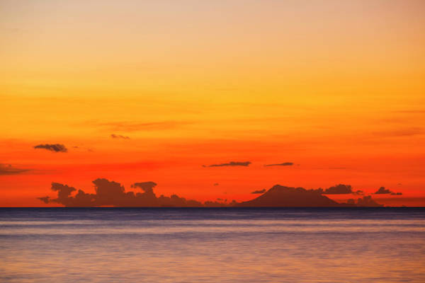 St Kitts Photograph - Nevis With Colorful Sunset by Michaelutech
