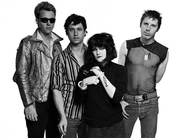 Punk Rock Wall Art - Photograph - New 1980 Los Angeles Band X Portrait by George Rose