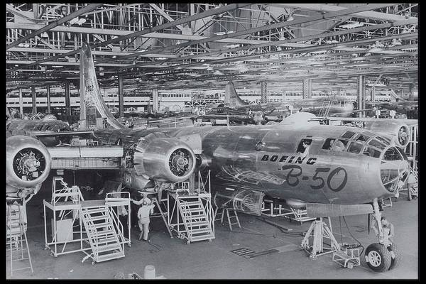 Bomber Photograph - New Boeing B-50 Super-bomber, Circa by Archive Holdings Inc.