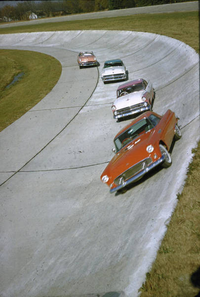 Photograph - New Cars For 1955 Fore-rear Ford Thun by John Dominis