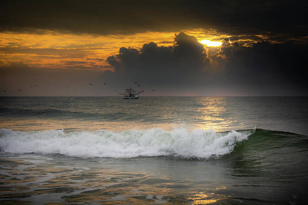 Wall Art - Photograph - New Day On Carolina Beach by Greg and Chrystal Mimbs