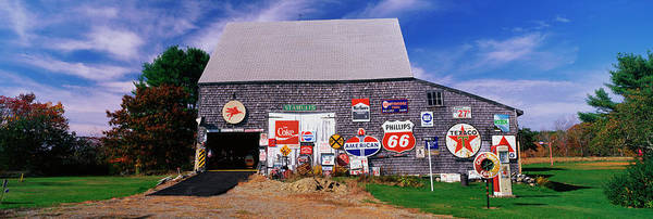 Small Town Usa Photograph - New England Barn With Numerous Signs by Education Images/uig