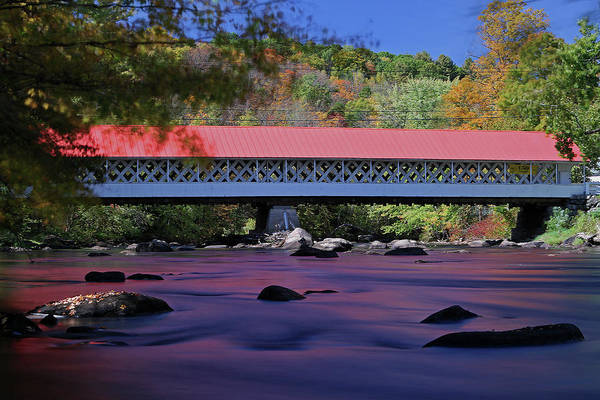 Photograph - New England Covered Bridge by Juergen Roth