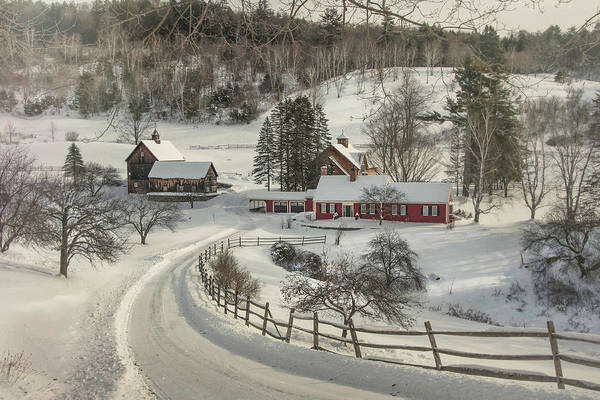 Photograph - New England Farm In Snow by Joann Vitali