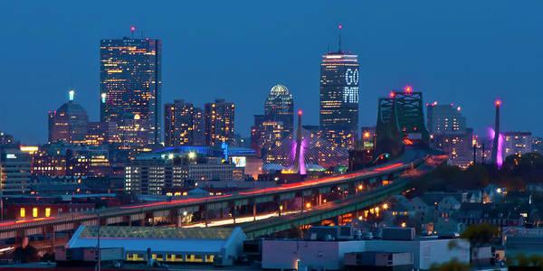 New England Patriots - Boston Skyline Art Print