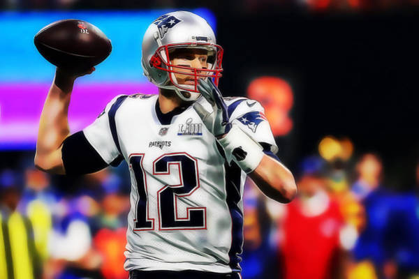 Mixed Media - New England Patriots Tom Brady by Marvin Blaine