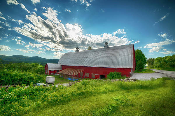 Photograph - New England Red Barn - Vermont by Joann Vitali