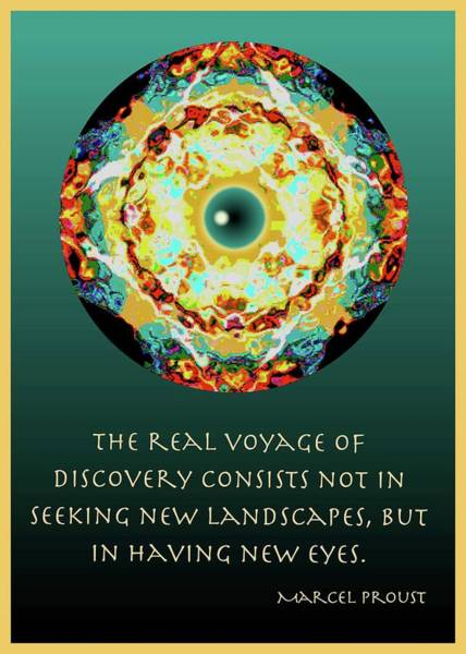 Proust Digital Art - New Eyes Mandala by Barbara Ford