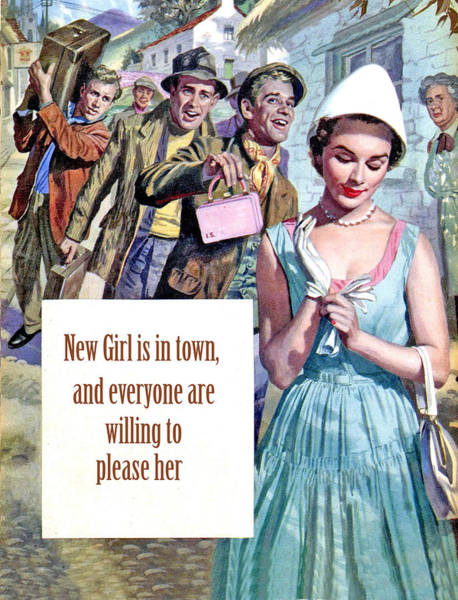 Wall Art - Painting - New Girl In Town by Long Shot