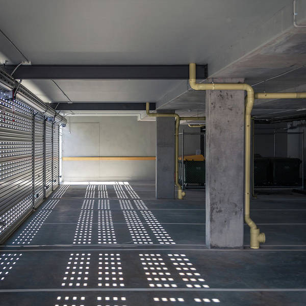 Parking Garage Photograph - New Grey Parking Interior by John Abbate