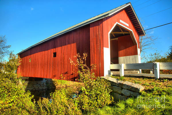 Photograph - New Hampshire Carleton Covered Bridge by Adam Jewell