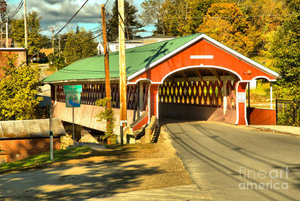Photograph - New Hampshire Thompson Covered Bridge by Adam Jewell