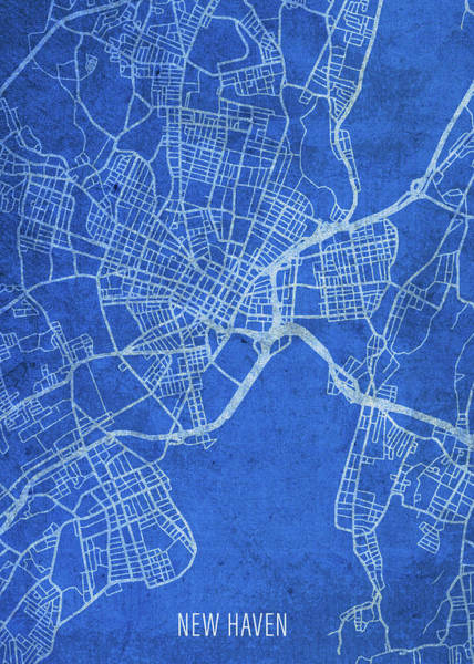 Wall Art - Mixed Media - New Haven Connecticut City Street Map Blueprints by Design Turnpike